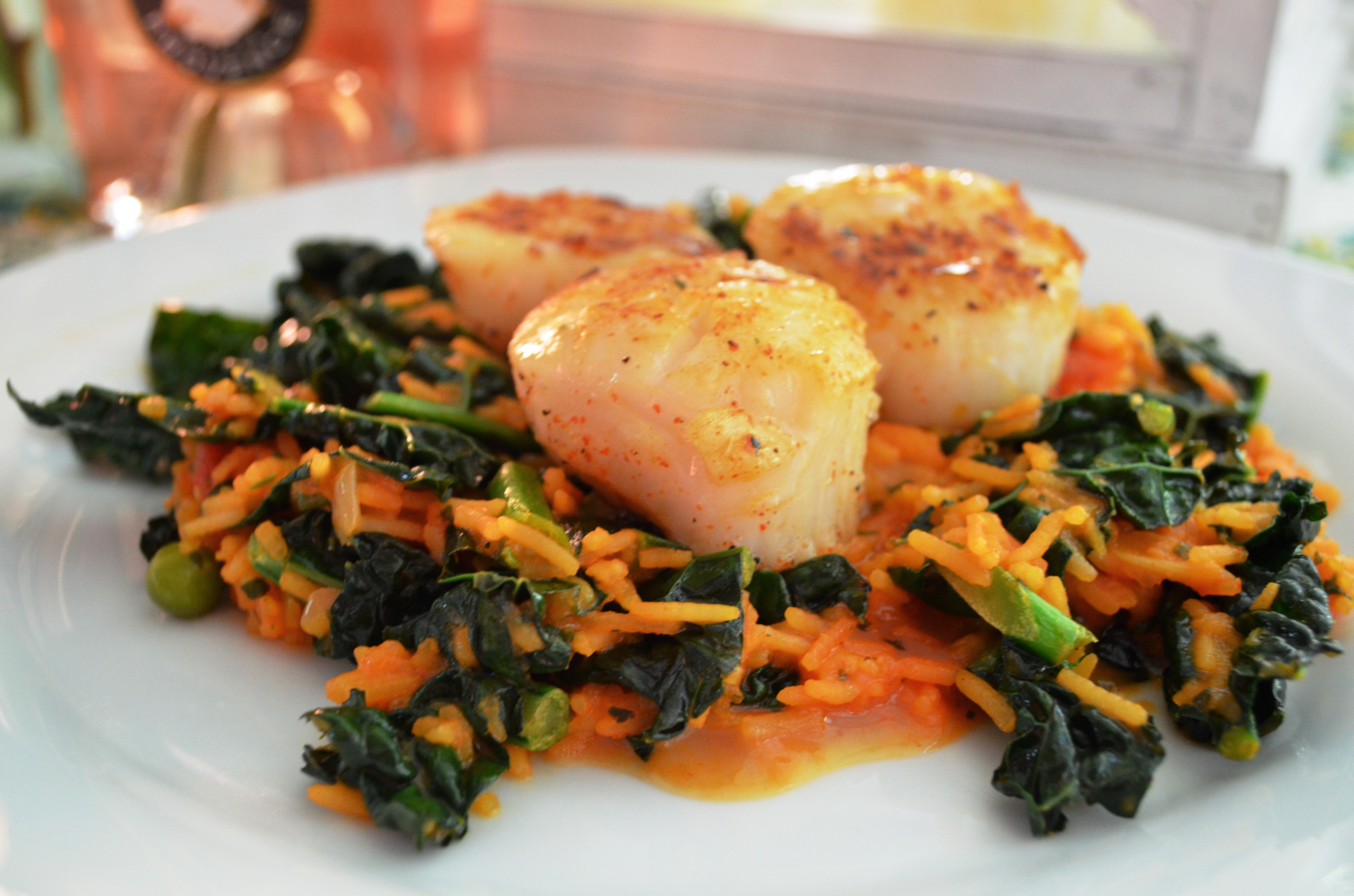 Seared Scallops With Chimichurri Dressing Recipe — Dishmaps